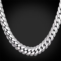 Wholesale Birthday Necklaces For Men - Platinum Plated Necklace For Men 18in-32in 9mm Platinum Plated Snake Chains Men's Fashion Jewelry Birthday Gift