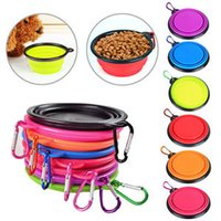 Wholesale Hot Dog Water - Hot Sale Pet Dog Feeders Portable Silicone Collapsible Travel Feeding Bowl Puppy Food Water Dish New