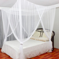 Wholesale Wholesale Canopy Beds - 190*210*240Cm Hot Sale Mosquito Net Bed Nets Hanging Mosquitoes Curtain 4 Open Sides Square Mosquito Nets Bed Canopy Netting Multi Colors