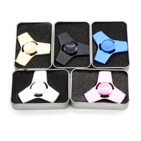 Wholesale Cool Metal Toys - Hot Top Selling EDC Decompression Toys Triangular Hand Spinner High Quality Metal Alloy Professional Hand Spinner ADHD Cool Fidget Spinner
