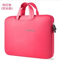 Wholesale Smart Cover Notebook - Portable Ultrabook Notebook Soft Sleeve Laptop Bag Case Smart Cover for MacBook Air Pro Retina 11 12 13 15 inch Handlebag