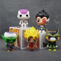 Wholesale Mini Pops Kids - Funko POP Mini Dragon Ball Anime Son Goku Piccolo Frieza Shahrukh Vegeta Vinyl PVC Collection Action Figure Model PVC Kids Toys