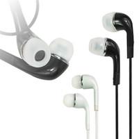 câble de casque de nouille achat en gros de-Écouteurs intra-auriculaires à nouilles plates haut de gamme avec micro et télécommande pour Samsung Galaxy S3 S4 S5 S6 edge note3 note4