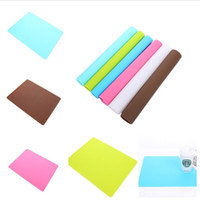 Wholesale wholesale baking supplies silicone - Super big soft antiskid thickening Solid color Baking mat High temperature resistance Dinner mat Kitchen supplies Silicone pad IA844