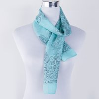 Wholesale Vintage Silk Chiffon Scarves - Wholesale- 2015 Spring New Style Fashion Women Vintage Scarves &Wraps Chiffon And Cotton Silk Scarf Shawl Clothing