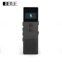 Wholesale oled player - Wholesale- BENJIE C6 HD Digital Voice Recorder Buiit-Speaker OLED Screen Portable Audio Metal MP3 Player FM RadioVoice Tracker