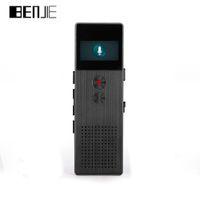Wholesale Oled Player - Wholesale- BENJIE C6 HD Digital Voice Recorder Buiit-Speaker OLED Screen Portable Audio Metal MP3 Player FM RadioVoice Tracker