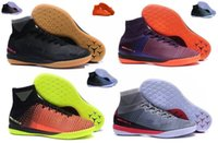 Wholesale Hyper X - 2017 Mercurial X Proximo II IC -Purple Dynasty Bright Citrus Hyper Grape men Football shoes Top high level ACC waterproof MD soccer shoes