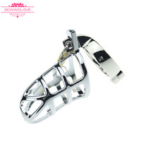 Wholesale Chastity Belt For Men Sale - 2017 New Best male urethral chastity With Catheter urethral sound dilator man Penis cages C Ring 38-50mm BDSM sex toys for sale