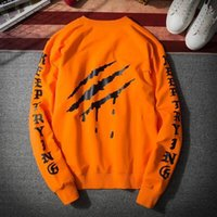 Wholesale Teenagers Casual Shirts - Spring Men Loose Scratch Print Long Sleeve Thin Sweatshirts Teenager Student Hiphop Sport Suit Hoodies Bottoming Shirt Couples