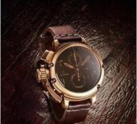 Wholesale Marine Stainless Watch - ITALY U-51 CHRONOGRAPH CHRONO stopwatch navy marine sub bronzo LIMITED EDITION 46mm quartz BEST QUALITY men watch wristwatch.