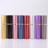 Wholesale Frosting Glass Bottles - 10ml Aluminum Glass Bottle 10 ML Gift Perfume Bottles High Quality Refillable Mini Scent-bottle Perfume Atomizer