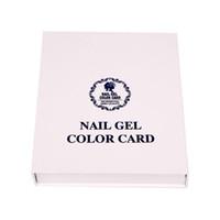 Wholesale Charts Displays Wholesalers - 120 Colors Professional Card Book Nail Art Display Nail Polish UV Gel Color Display Color Chart Nail Tools Free Shipping ZA2681