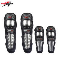 Wholesale Wholesale Biker Gear - PRO-BIKER KneePads Elbow Guard Stainless Steel Protective Gear Protector Protection Armor For MTB ATV Motorcycle Motocross HX-P15