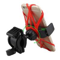 klips bisiklet gidonları toptan satış-Telefon Toptan-Dağı Bisiklet Tutucu Bisiklet Gidon Standı Klip Motosiklet cep telefonu sahibi MTB Dağı GPS Gadget araç telefonu sahibi