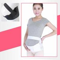 Wholesale Maternity Abdomen Support - 2 Colors Pregnant Woman Maternity Belt Breathable Pregnancy Support Waist Postpartum Abdomen Waist Belt CCA7264 50pcs