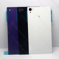 Wholesale Xperia Z1 Glass Back - Back Glass Battery Housing Cover Glass for Sony Xperia Z1 L39 C6903 C6902 L39h C6906 5.0""