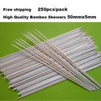 Wholesale New Pack mm Bamboo Wooden BBQ Party Skewers Set Natural Bamboo sticks High quality BBQ Bamboo Stick