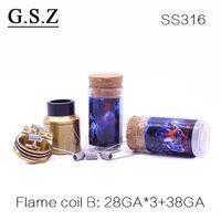 Wholesale Electronic Cigarette Coil Wire - Demon Killer Premade Coils Pre built Resistance Wire Flame Coil 0.25ohm 0.3ohm 0.35ohm 0.5ohm for Electronic Cigarette RDA RTA