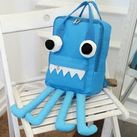 Wholesale Octopus Canvas - Octopus backpack 3D devilfish daypack Fish shape schoolbag Cool rucksack Sport school bag Outdoor day pack