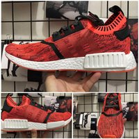 Wholesale Apple Canvas - 2017 High Quality NMD R1 NYC RED APPLE Men Running Shoes Fashion Running Sneakers for Men and Women mastermind japan MMJ Size 36-44