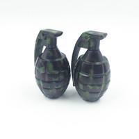 Wholesale metal grenade - Metal Hand grenade Shape Herbal Herb Tobacco Grinder Spice Crusher Muller Hookah Shisha Chicha Accessory Grinder Tool