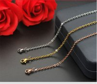 Wholesale Rose Quartz Charm - Steel factory stainless steel necklace gold plated titanium jewelry wholesale fashion simple Korean version of the necklace female rose gold