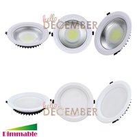 Éclairage encastré LED COB Dimmable 10W 15W 20W 25W 30W LED Plafonnier 100LM / W LED Downlight