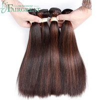 Wholesale Indian Remy Hair Weave Wholesale - P1B 30 Color 2 Tone Human Hair Bundles Malaysian Indian Peruvian Brazilian Straight Human Hair Extensions 100% Ombre Hair Bundles Non Remy