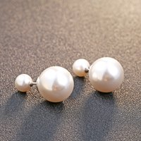 Wholesale Samples For Earrings - S925 Sterling Silver Pearl Ear Stud Earring Sample Fashion jewelry Genuine Guarantee For Women Party Wedding Jewelry