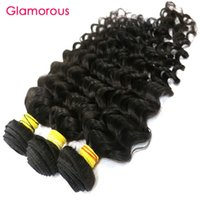 Wholesale Cheap Full Brazilian Weave - Glamorous Malaysian Virgin Hair Weaves 4 Bundles Full Cuticle Indian Peruvian Human Hair Extensions Deep Body Wave Cheap Brazilian Hair Weft