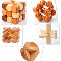 Wholesale Toys For Chinese Children - Funny Chinese Traditional Wooden Educational Toys for Adult Children Intelligence Education Puzzle Lock Kids wood Toys Y065