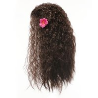 Wholesale Hair Accessories For Wigs - Moana Cosplay Wig Hair Accessories kids curly wave cosplay wig long curly 56cm for Halloween and Christmas