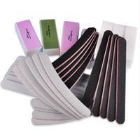 ücretsiz manikür seti toptan satış-13 Adet / takım Zımpara Dosyaları Tampon Blok Nail Art Salon Manikür Pedikür Araçları Pro Tırnak Araçları Ücretsiz Kargo