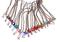 Wholesale Murano Glass Oil Heart - murano lampwork glass pendants aromatherapy pendant necklaces jewelry perfume vial bottle pendants essential oil diffuser necklace