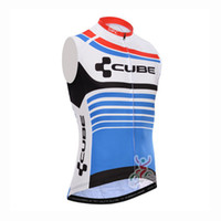Wholesale Racing Bike Cube - 2017 CUBE Pro Team Cycling sleeveless jersey bike vest maillot Ciclismo quick dry tour de france men Bicycle Clothing Racing MTB shirt B2502