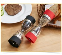 Wholesale Red Pepper Spice - 2 in 1 Manual Pepper Spice Salt Durable Mill Grinder Red And Black Multi Function Family Necessity Kitchen Tool 14st J R