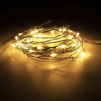 Atacado- 300CM Multicolor Mini LED String Lights Bateria operada em cobre fio LED Fairy Light para Natal Weeding Party Decor DC3V