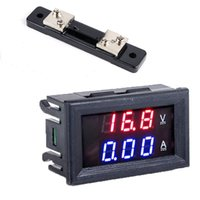 DC 0-100V 50A Dual Digital Voltmeter Amperemeter Panel Amp Volt Gauge Rot Blau LED Display