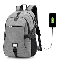 Wholesale travelling notebook - Men Nylon Large Capacity Laptop Backpack Computer Notebook Rucksack Women Travel Bag with USB Charging Port B113