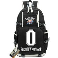 Wholesale Russell Outdoors - Russell Westbrook backpack Good gym day pack Oklahoma City star school bag Basketball rucksack Sport schoolbag Outdoor daypack