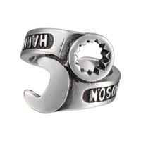 качающееся кольцо оптовых-Наш стиль Харли ретро панк мужской рок кольцо палец кольцо гайковерт trendsetter персонализированные ювелирные изделия