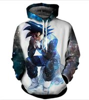 Wholesale Dragon Ball Hoodie - New fashion Cool sweatshirt Hoodies Men women 3D print Dragon Ball Z Goku fashion hot Style Streetwear Long sleeve clothes XKLMS07