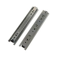 Wholesale 2pcs inch inch inch Long Drawer Slides Runner mm Width Black Cold Rolled Steel Ball Bearing Rail For Drawer Desk