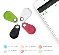 dispositivos antirrobo automovil al por mayor-Hot Mini Bluetooth 4.0 GPS Traker localizador de alarma portátil Anti-perdidos Key Finder Car Key Pet Tracker de dos vías dispositivo antirrobo