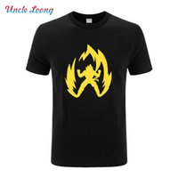Wholesale Japan Size Clothes - Japan Anime Dragon Ball T Shirt Super Saiyan Short Sleeve T shirt Men Son Goku Tees Tops Men Clothes Plus Size