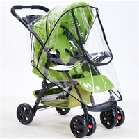Wholesale Bicycle Rain Accessories - High Quality Baby Stroller Cover Universal Waterproof Rain Cover Dust Wind Shield Stroller Accessories Pushchairs Buggys