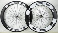 Wholesale 88mm Wheels - 700C 25mm width Carbon Wheels Front 60mm rear 88mm Clincher Road bike Wheelset with Powerway R36 Straight Pull Hub UD matte finish