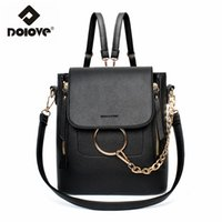 Wholesale Sweet Notebook - Wholesale- DOLOVE 2017 New Sweet lady backpack College of the wind school bag notebook travel bag