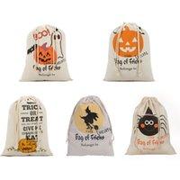 9 styles halloween bag pumpkin trick or treat bags canvas party halloween sacks decoration diy personalized supplies 50pcs dhl hk003 uk